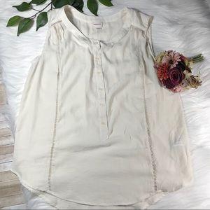 Merona Off-White Ivory Sleeveless Top XL